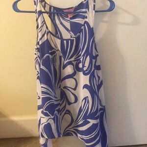 Lilly pulitzer silk racer back swing top M